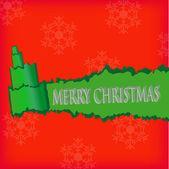 Papier déchiré en forme d'arbre de Noël. carte de Noël. — Vecteur