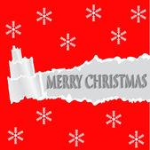 撕的纸圣诞节树的形状。圣诞贺卡. — 图库矢量图片