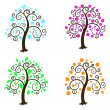 Four seasons. Illustration a white background. — Stock Vector #13606037