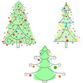 Christmas Trees, collection. — Stock Vector