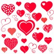 Royalty-Free Stock Vector Image: Heart. Collection for your design.