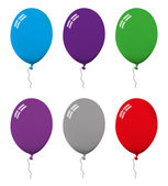 Set of ballon illustrations in different colors — Stock Vector