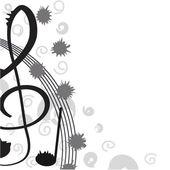 Treble clef voor uw ontwerp. een vectorillustratie — Stok Vektör