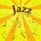 Vector jazz background — Stock Vector