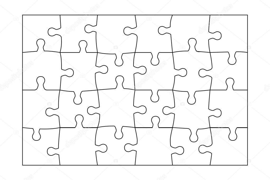 4 Piece Jigsaw Puzzle Template 5 Piece Jigsaw Puzzle Template
