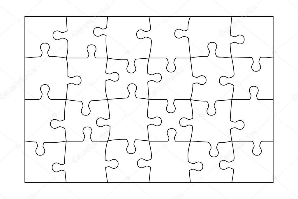4 Piece Jigsaw Puzzle Template 5 Piece Jigsaw Puzzle Template