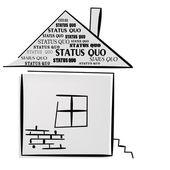 El status quo. una ilustración vectorial — Vector de stock
