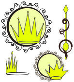 Crowns collection. — Stock Vector