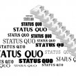 Stock Vector: Status Quo words