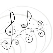 Music background. A vector illuustration — Stock Vector