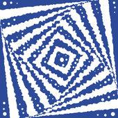 Square optical illusion. — Stock Vector