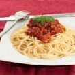 Noodles with tomato — Stock Photo