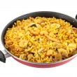 Noodle paella — Stock Photo