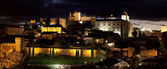 Monumental city of Cáceres of night — Stock Photo