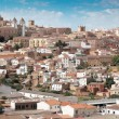 Daytime panorama of Caceres - Stock Photo
