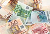Euron räkningar — Stockfoto