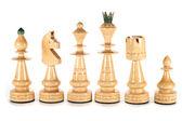 Witte schaakstukken — Stockfoto
