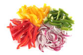 Peppers and chopped onion — Stock Photo