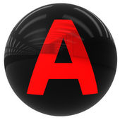 Ball with the letter A — Stock Photo
