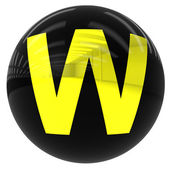 Ball with the letter W — Stock Photo