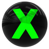 Ball with the letter X — Stock Photo