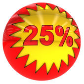 Ball with twenty five percent — Stock Photo