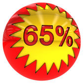 Ball with Sixty five percent — Stock Photo