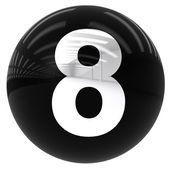 Palla con il numero otto — Foto Stock