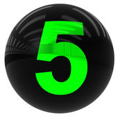 Ball with the number five — Stock Photo