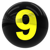 Míč s číslem devět — Stock fotografie