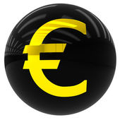 Ball with the euro symbol — Stock Photo