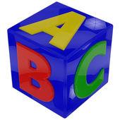 Letters cube — Zdjęcie stockowe