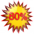 Star off eighty percent — Stock Photo