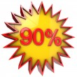 Star off ninety percent — Stock Photo