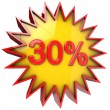 Star off thirty percent — Stockfoto