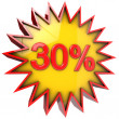 Star off thirty percent — Stock Photo