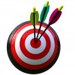 Target with three arrows — Stock Photo