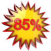 Star off eighty five percent — Stock Photo