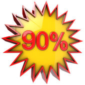 Star off ninety percent — Stock Photo