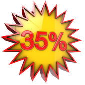 Star off thirty five percent — Stock Photo