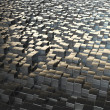 Abstract background steel cubes — Stock Photo
