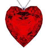 Pendant heart shaped red — ストック写真