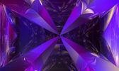 Violet fractal refraction  — Stock Photo