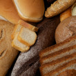 Background of Various Bread - Stock Photo
