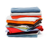 Stack of Color Clothes — Stock Photo