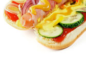 Inside View of Hot Dog — Stock Photo