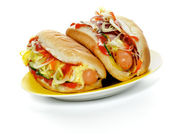 Two Hot Dogs — Foto Stock