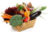 Raw Vegetable Basket — Stock Photo