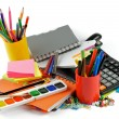 Foto Stock: Color School Supplies