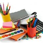 kleur schoolbenodigdheden — Stockfoto